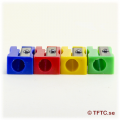 Pencil sharpener, plastic, different colors
