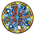 Polynesian compass rose geocoin