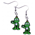 Trackable Signal the Frog® Nickel Earrings- Small