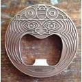 Aztec bottle opener - Antique bronze