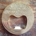 Aztec bottle opener - polished gold