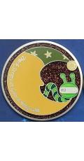 Stripy, the Moonworm Geocoin - Skoll