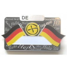 German nametag - magnetic bar holder