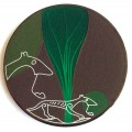 Swedish viking geocoin - Holmfast's wolf